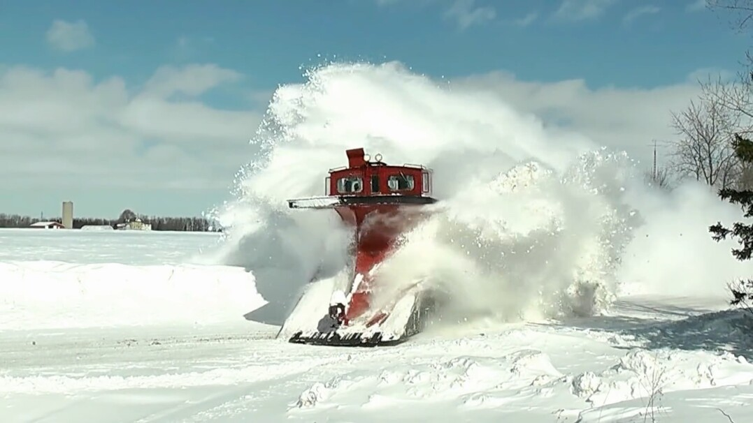 Potężne pociągi do walki ze śniegiem