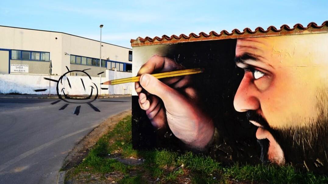 Zamienia szare ulice w kolorowe dzieła. Niezwykłe graffiti 3D