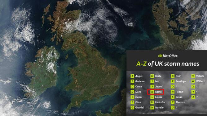 Brytyjczycy ogłosili nazwy najgroźniejszych sztormów. Polskie imię na liście