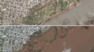 Argentyna przed i po fali powodziowej. Ogromne straty w Ameryce Południowej